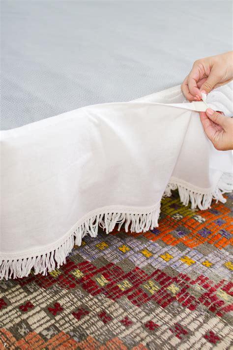 velcro bed skirt diy velcro bedskirt a beautiful mess