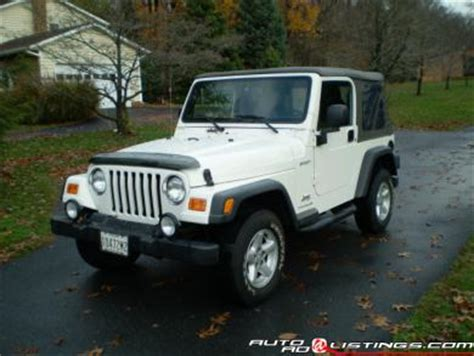 2003 white jeep wrangler 2003 jeep wrangler white 200 interior and exterior images