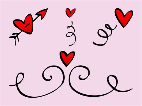 free doodle hearts doodles vector vector graphics freevector