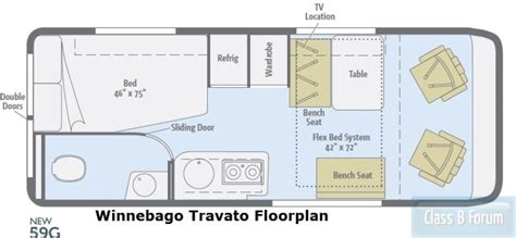 winnebago rialta floor plans apelberi com winnebago travato 59g floor plan original