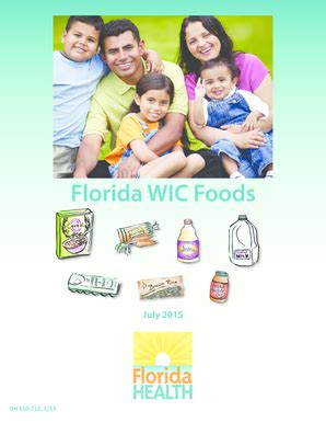 1 lb wic whole grains fillable the florida wic foods phlet fax email