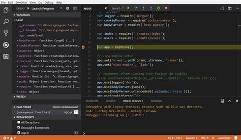 node js tutorial visual studio code build node js apps with vs code