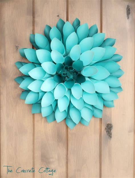 Paper Wreaths To Make - paper dahlia wreath crafts and diy