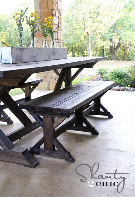 diy farmhouse table and bench best 25 outdoor farm table ideas on pinterest rustic outdoor dining furniture farm