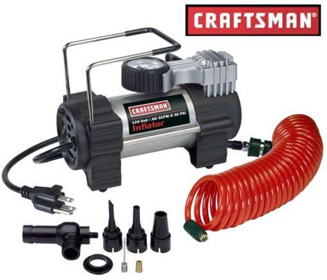 craftsman portable inflator air compressor 120 v auto car vehicle hose ebay