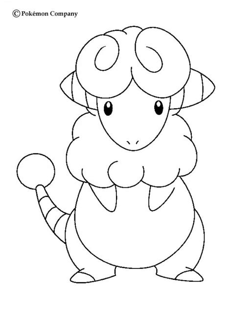 electric pokemon coloring pages flaaffy coloring pages hellokids com