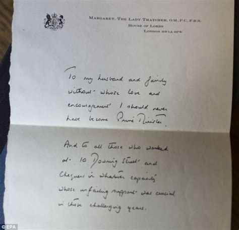 Support Letter From To Husband Thatcher S Handwritten Letter To My Husband And Family Thanking Them For Their Support Is