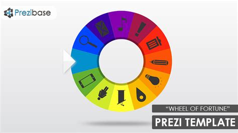 Wheel Of Fortune Prezi Template Prezibase Wheel Of Fortune Ppt Template Free