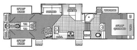 2 bedroom 5th wheel floor plans three bedroom two bath rv