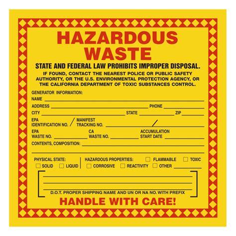 printable hazardous material label pin hazardous waste labels printable on pinterest