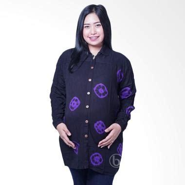 Baju Olahraga Lengan Panjang Original Branded Pria Wanita jual blj 423 batik kelereng lengan panjang baju menyusui ungu hitam