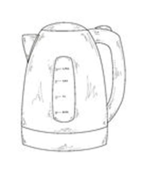 water pot coloring page electric kettle stock image