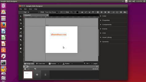 html design ubuntu how to install google web designer in ubuntu 15 04