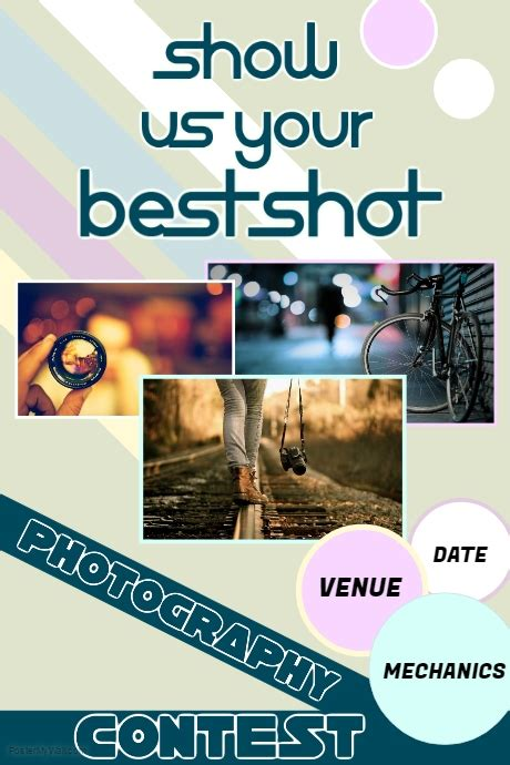 photo contest flyer template photography contest poster template postermywall