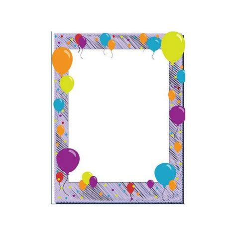 balloon border template free free birthday borders for invitations and other birthday