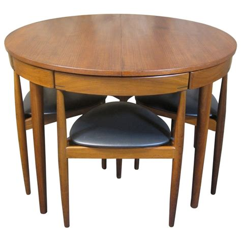 Mid Century Modern Dining Room Table Hans For Frem Rojle Teak Dining Table And Chairs Mid Century Modern At 1stdibs