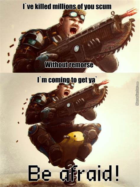 Gears Of War Meme - badass gears of war warning by elegantking meme center