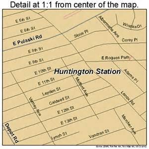 Map Of Huntington New York by Huntington Station New York Street Map 3637044