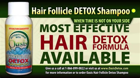 Hair Follicals Thinning During Detox by Hair Detox Shoo Test Detoxification Kit
