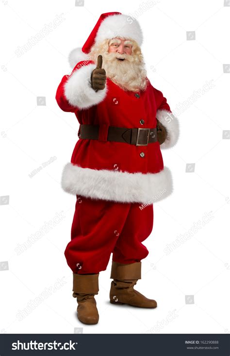 santa claus standing isolated on white stock photo