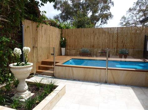 backyard pool fence ideas durable backyard fence ideas with bamboo material