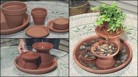 Homemade Flower Pots Ideas diy how to make water garden fountain