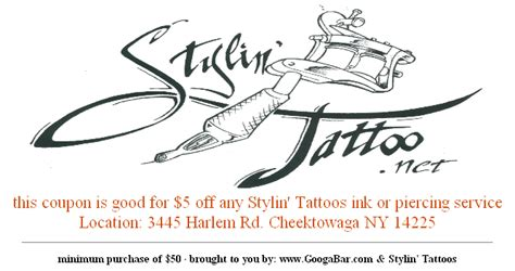 stylin tattoo save money on your next 5 at stylin tattoos