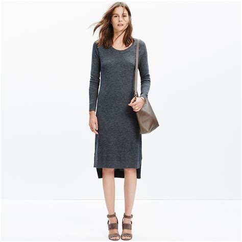 Slit Side Sweater Dress side slit sweater dress