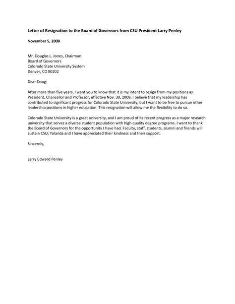 format writing letter governor samples
