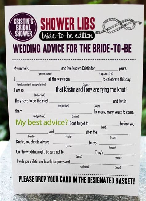 printable bridal shower games mad libs bridal shower mad libs party decor pinterest