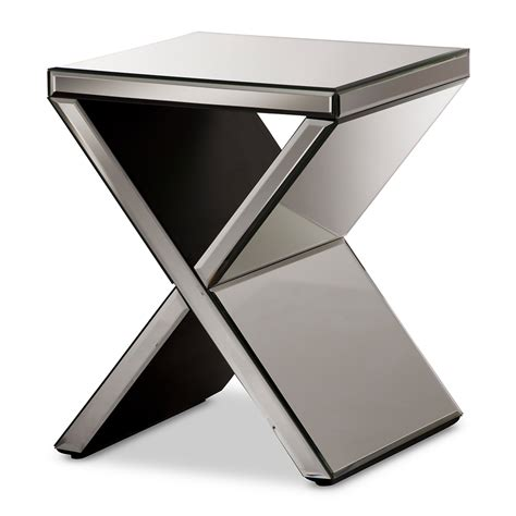 X Side Table Mirror X Side Table Modern Furniture Brickell Collection