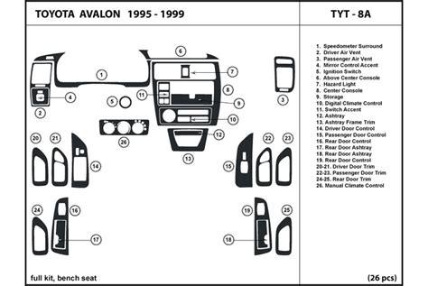 radio wiring diagram for 1999 toyota avalon xls 2007