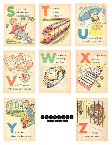printable vintage alphabet flash cards 262 best images about alphabets fonts letters more on