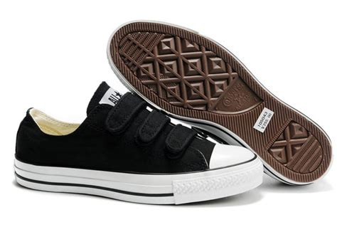 Sepatu Converse All Clasic Size 37 43 velcro converse all black 3 low tops canvas shoes