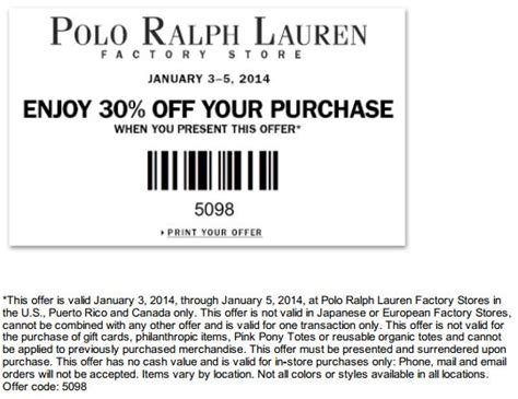 printable coupons for nautica outlet ralph lauren factory store coupon march 2018