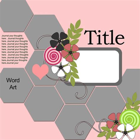 Free Digital Scrapbooking Card Templates by Ideas For Scrapbookers A New Hexagon Template Sketch