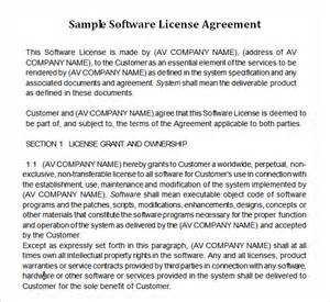 software license agreement template software license agreement 9 free pdf doc