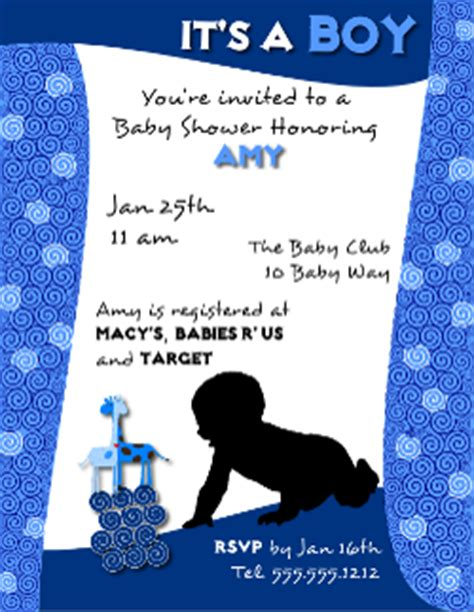 baby shower invitation flyer template for a boy created