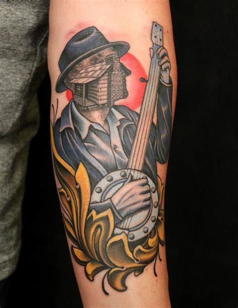 banjo tattoo banjo by russ abbott tattoonow