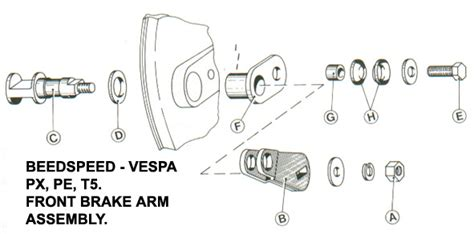 vespa parts diagrams beedspeed