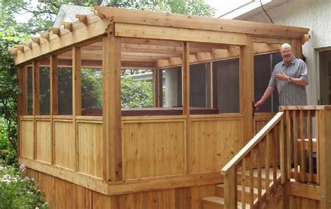 screened  pergola  mikes  porch build