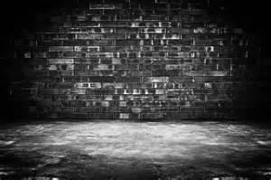 Dark Brick Wall Background by Old Dark Room With Brick Wall And Concrete Floor As