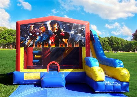 bounce house rental 7in1 iron man bounce house rental in miami