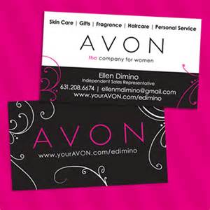 avon business cards avon independent sales representative business cards