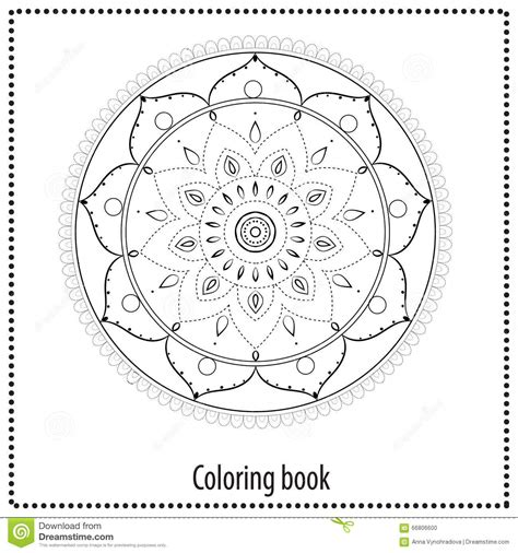 beautiful color by number mandalas books beautiful card vector stock vector image 66806600