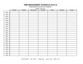 template for time management schedule 8 best images of free printable time management schedules