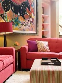 vibrant red sofas hgtv