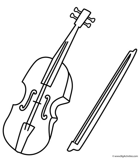 violin coloring page musical instruments