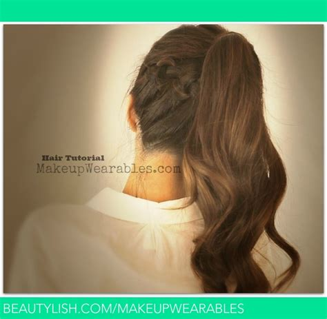 ponytail hairstyles back to school hair tutorial braided messy bun ponytail back to