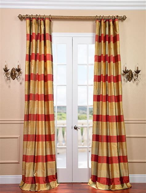 plaid silk curtains dynasty silk taffeta plaid curtain contemporary